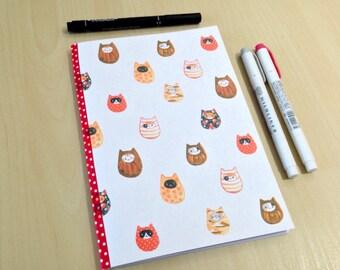 A5 Daruma Cats Bullet Journal Notebook