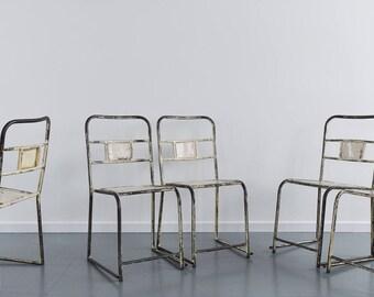 Vintage Metal Stacking Tubular Chair
