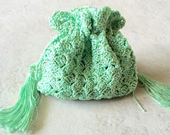 Large Mint Green Rosary Bag