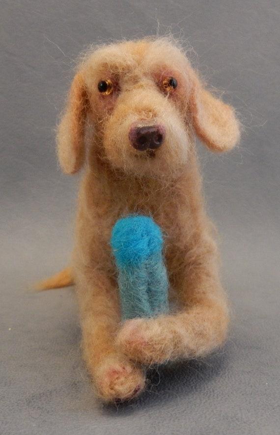 Drahthaar needle felted dog urn gift German Wirehaired Vizsla custom felt dog replica dog sympathy gift shorthaired Vizsla Kromfordl\u00e4nder