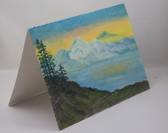 hand painted card etsy