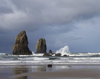 Haystack Rock,  Cannon Beach, Oregon, pacific northwest beach