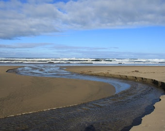 Cannon Beach, Oregon coast, digital copy, ocean waves, sandy beach