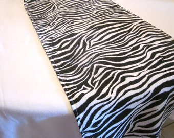 Zebra Print Table Runner, Safari Party Decor, Zoo Party, Baby Shower,  Birthday Party, Jungle Party, Animal Print