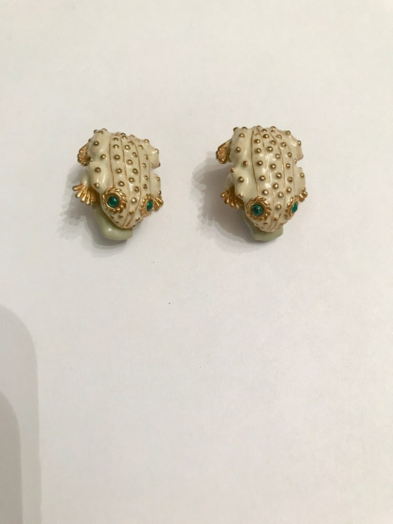 80s Couture Jewelry Gift for Her Vintage CINER Earrings Leopard Pattern Earrings Mother Day Gift CINER Jewelry 80s Earrings