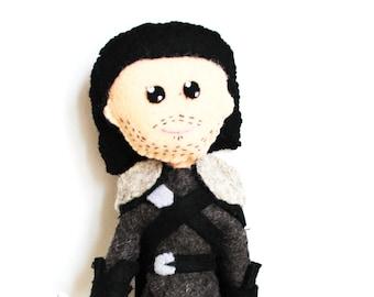 Handmade Felt Doll Inspired by Jon Snow