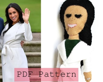 PDF PATTERN: Meghan Markle Engagement Felt Doll
