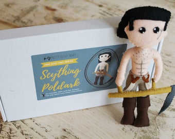 Scything Poldark Sew Your Own Doll Kit, Craft Kit, Sewing Kit