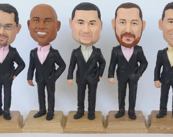 Custom Groomsmen Bobbleheads - Personalized Groomsmen Gift - Unique Doll Gift For Groomsmen - Personalized Bobblehead In Custom Clothing