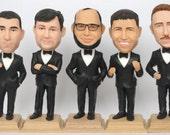 Groomsmen Bobble Head - Funny Groomsmen Gift - Wedding Groomsmen Look Alike - Personalized Bobblehead In Custom Clothing