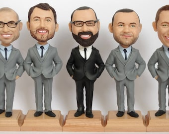 Custom Groomsmen Bobbleheads - Best Custom Groomsmen Bobbleheads From Your Photos - Wedding Groomsmen Look Alike - Groomsmen Gift Idea