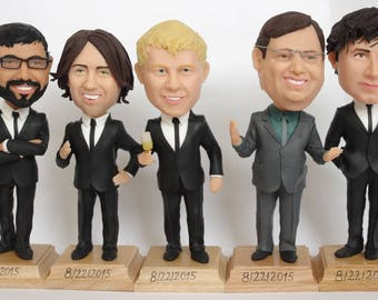 Groomsmen Bobble Head - Funny Groomsmen Gift - Wedding Groomsmen Look Alike - Best Groomsmen Bobble Head Gift - Unique Doll For Groomsmen