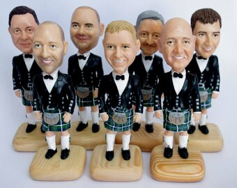 Custom Groomsmen Bobbleheads - Funny Groomsmen Gift - Wedding Bestman Look Alike - Personalized Bobblehead In Custom Clothing