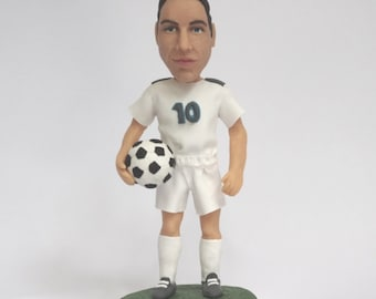 Personalized Figurine or Bobblehead with your face and the jersey of your soccer team or favorite national team - 100% Money-Back Guarantee