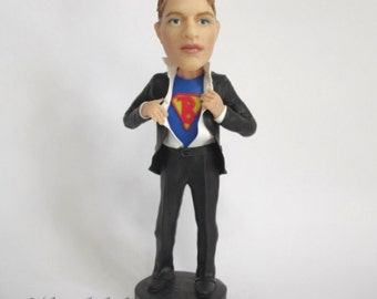 Custom Personalized Bobblehead or Figurine From Your Photo - Just In Time - You can choose which letter to put on the shirt