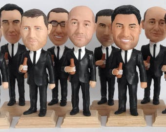Groomsmen Bobble Head - Funny Groomsmen Gift - Wedding Groomsmen Look Alike - Best Groomsmen Bobble Head Gift For Him - Wedding Party Gift