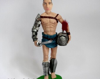 Custom Superhero figurine - Gladiator - 100% Money-Back Guarantee