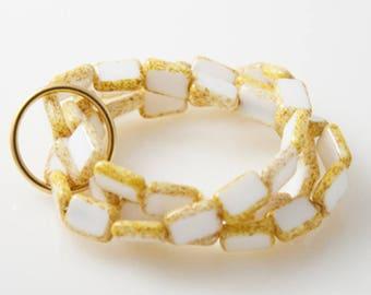 White 'Trio' Bracelet