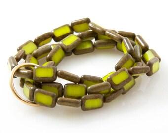 Chartreuse 'Trio' Bracelet