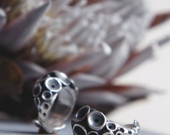 Octopus ring, tentacle ring, sterling silver ring, statement ring, sea jewelry, ocean jewelry, octopus jewelry, modern ring, size 5 1/4
