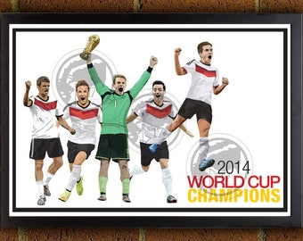 61873726a93 Germany World Cup Champions Poster - German Champions 2014 - Germany Soccer  Poster, bundesliga print, fifa, world cup, world champions