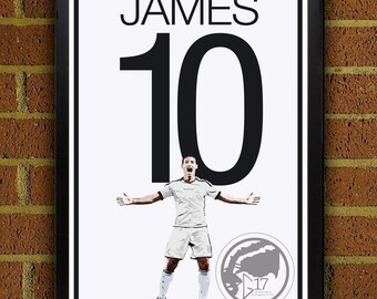 ccc16ded037e James Rodriguez Real Madrid Football Club - Soccer Poster 8x10