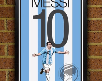 1d5bb0bbe Lionel Messi 10 Poster - Argentina - Argentina Soccer Poster- 8x10, 13x19,  poster, art, wall decor, home decor, world cup