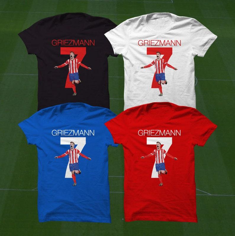 the best attitude 1ab54 07607 Antoine Griezmann T-Shirt - Atlético Madrid Player - Size S to Xxxl -  Custom Apparel soccer, madrid tshirt, griezmann tee, tshirt