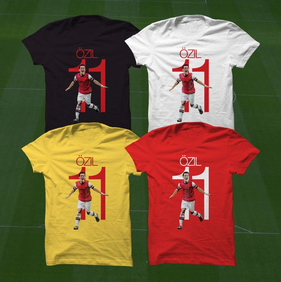 best sneakers 43052 d2b92 Ozil 11 Arsenal Shirt T-Shirt - AFC Soccer Player - Size S to Xxxl -Custom  Apparel Football, futbol, soccer, Coyg, premier league