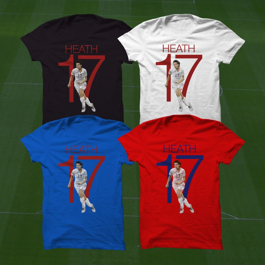 competitive price b2cc7 6472b Tobin Heath T-Shirt - USWNT Player - Size S to Xxxl -Custom Apparel soccer,  world cup tshirt, heath tee, uswnt tshirt