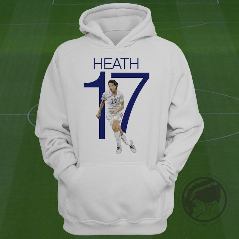 6590133b9a1 Tobin Heath 17 USWNT Hoodie Heath Soccer Sweatshirt Size S | Etsy