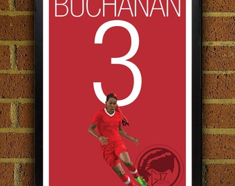 Kadeisha Buchanan 3 Poster - Canada's Women's World Cup Squad - Soccer Poster, World Cup poster, art, wall decor, home decor, flem