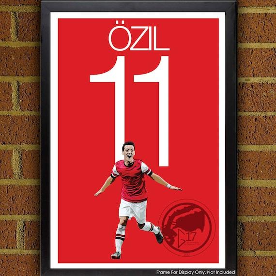 396d89b4bde Mesut Özil 11 Arsenal Football Soccer Poster print art