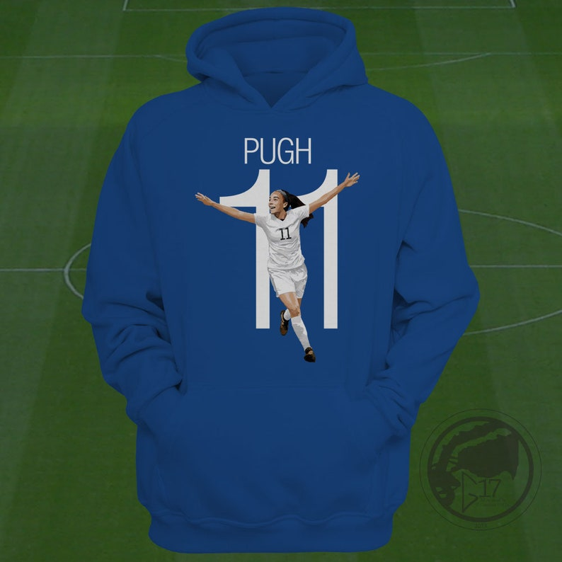 65b08c8be31 Mallory Pugh USWNT Hoodie Pugh Soccer Sweatshirt Size S to | Etsy