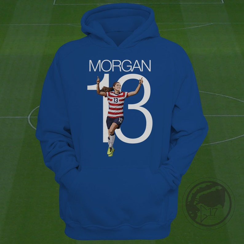 bbc7b0d21 Alex Morgan USWNT Hoodie Alex Morgan Soccer Sweatshirt