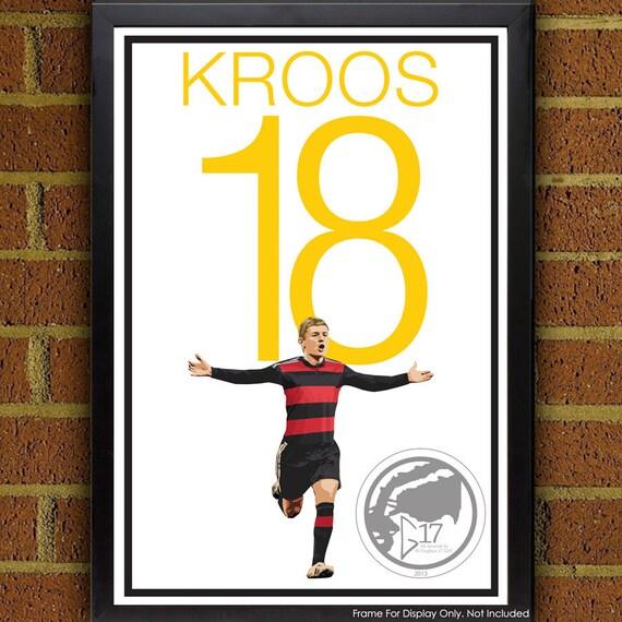 Toni Kroos 18 Duitsland Voetbal Voetbal Poster 8 X 10 13 X