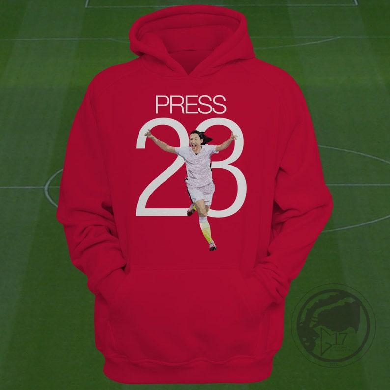 f325fbcea40 Christen Press USWNT Hoodie Press Soccer Sweatshirt Size S | Etsy