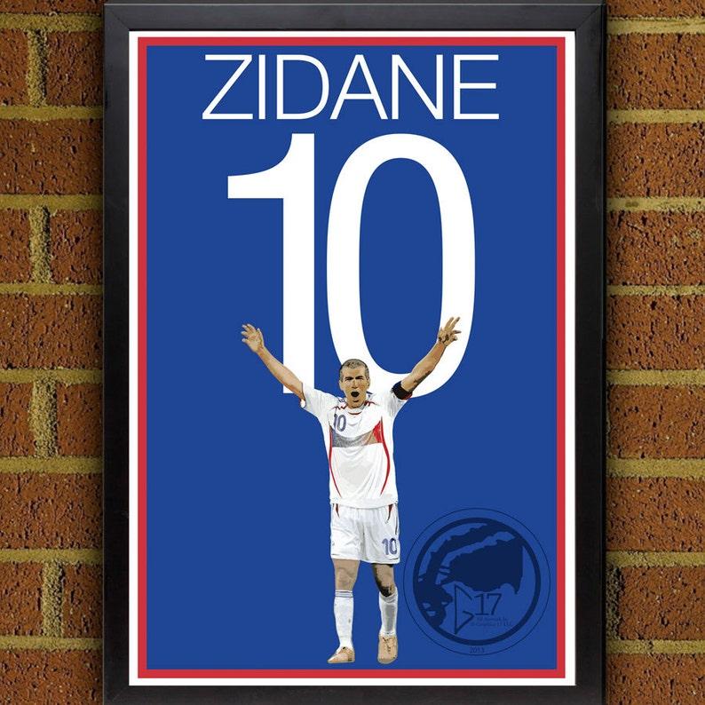 d8713fde9 Zinedine Zidane 10 France World Cup Winner Poster Real