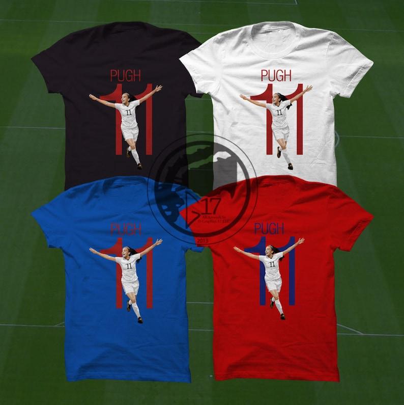 reputable site 4c073 7b9a5 Mallory Pugh T-Shirt - USWNT Player - Size S to Xxxl - Custom Apparel  soccer, world cup tshirt, Pugh tee, uswnt tshirt