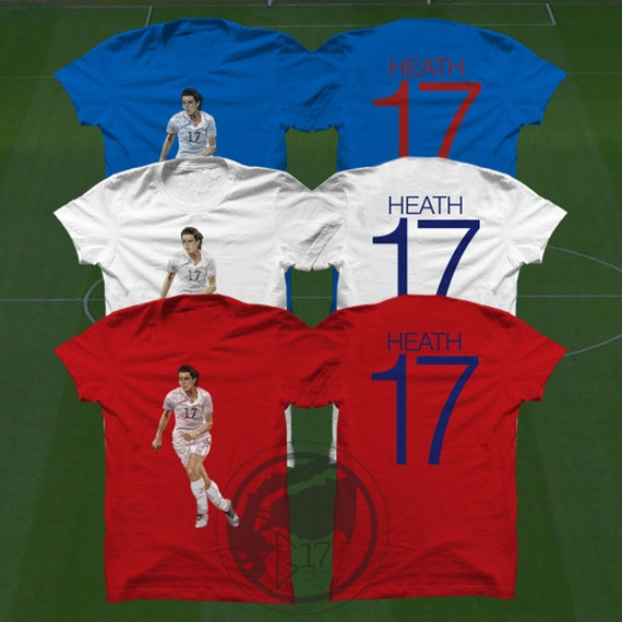 14c257a4b17 Double Sided Tobin Heath T-Shirt USWNT Player Size S to