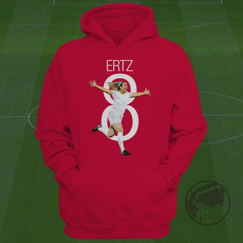 ec9a75f449b Julie Ertz USWNT Hoodie Heath Soccer Sweatshirt Size S to | Etsy