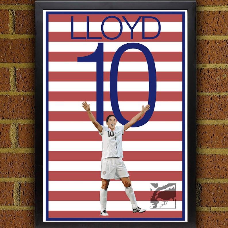 5a669ae3f77 Carli Lloyd 10 Poster Uswnt Usa Soccer Poster 8x10