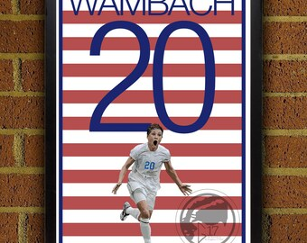Abby Wambach 20 Poster - USWNT - USA Soccer Poster- 8x10, 13x19, poster, art, wall decor, home decor, world cup, women, woman