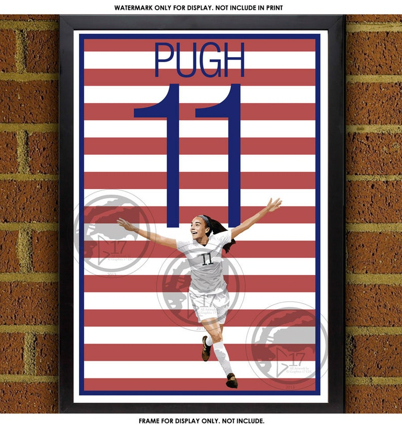 newest collection 68c5e 97baa Mallory Pugh Poster - USWNT - USA Soccer Poster World Cup poster, art, wall  decor, home decor, Mallory Pugh print, Mallory Pugh art work