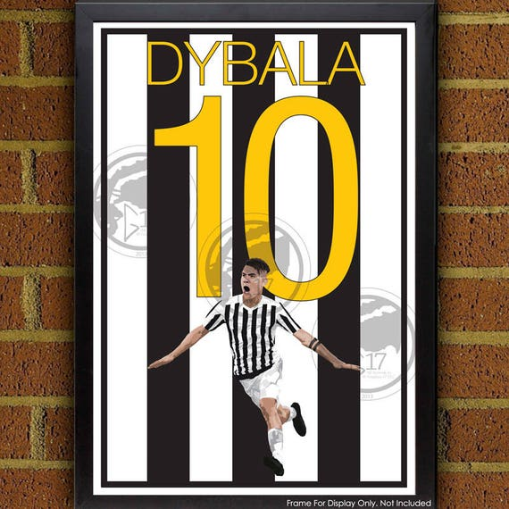 best service f08ed d583e Paulo Dybala Juventus Poster - Italy Soccer Poster- 8x10, 13x19, poster,  art, wall decor, home decor, world cup