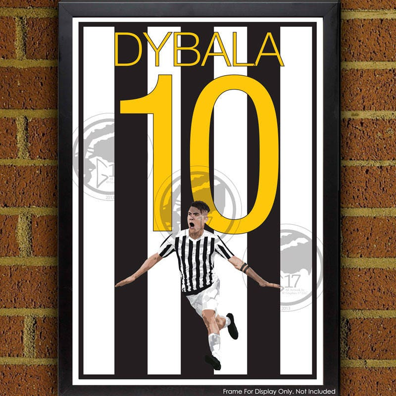 Paulo Dybala Juventus Poster Italien Fußball Poster 8 x | Etsy