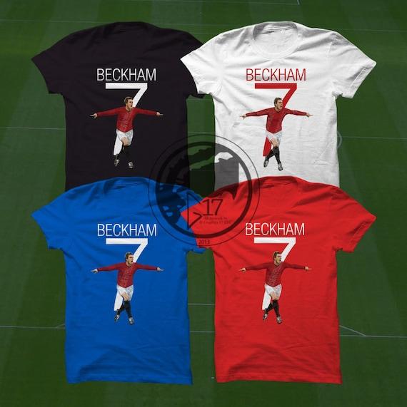 bb955b85421 Mufc Beckham 7 T-Shirt Manchester United Soccer Player
