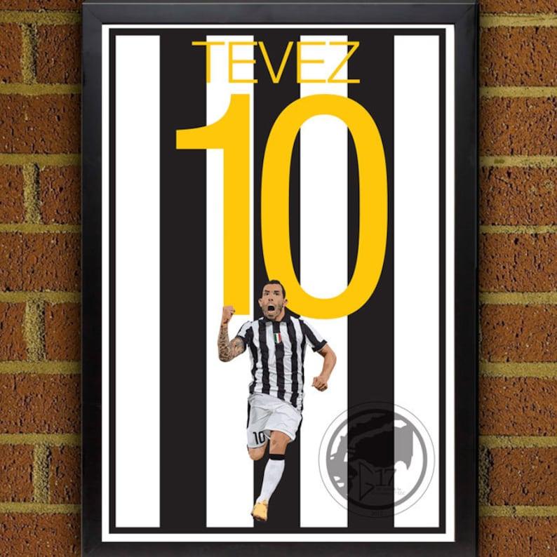 527ac60d19b Carlos Tevez Juventus Poster Juve Soccer Poster 8x10