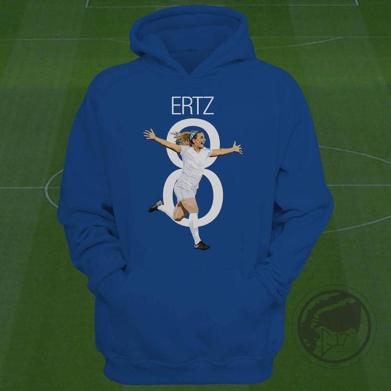 ec9a75f449b Julie Ertz USWNT Hoodie Heath Soccer Sweatshirt Size S to   Etsy