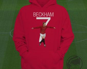 David Beckham Hoodie - Man Utd Sweatshirt Custom Apparel Barclays Premier League, mufc sweatshirt, beckham hoodie, manchester united hoodie